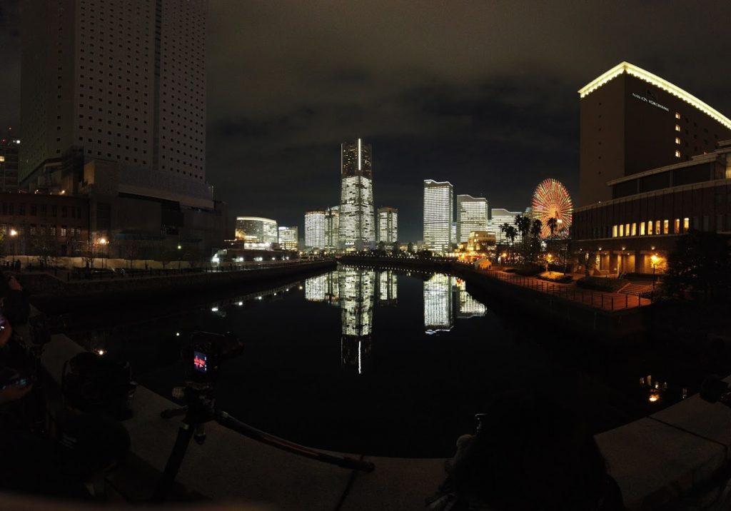 万国橋からパノラマ3✕3で撮影