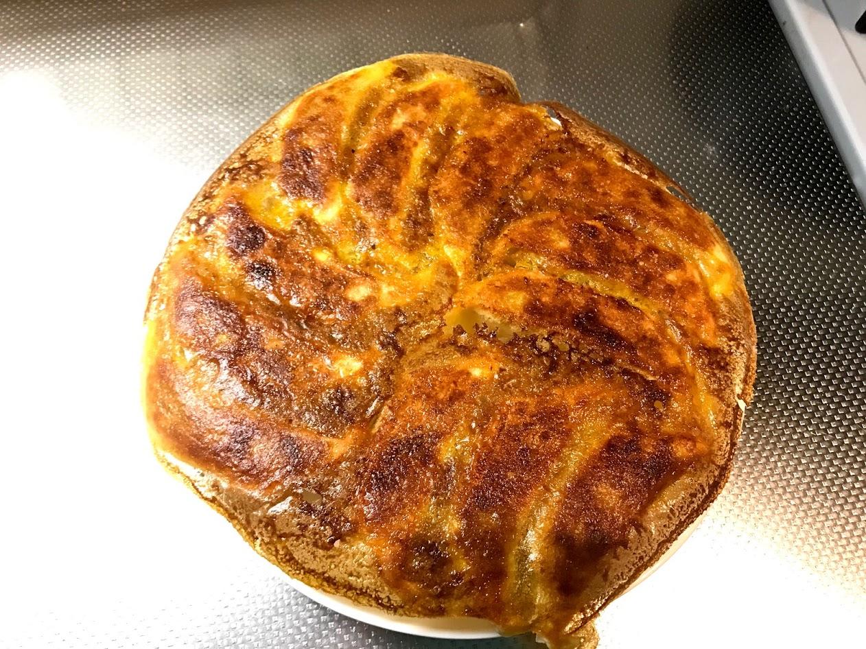 焼き上がったカレー餃子